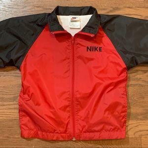 Vintage Nike 2T Windbreaker Jacket Red Black